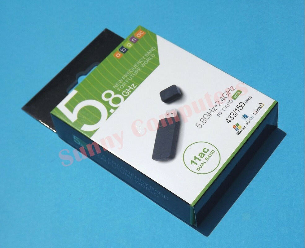 usb wireless network card wifi dual band internet adapter 433mbps ebay. Black Bedroom Furniture Sets. Home Design Ideas