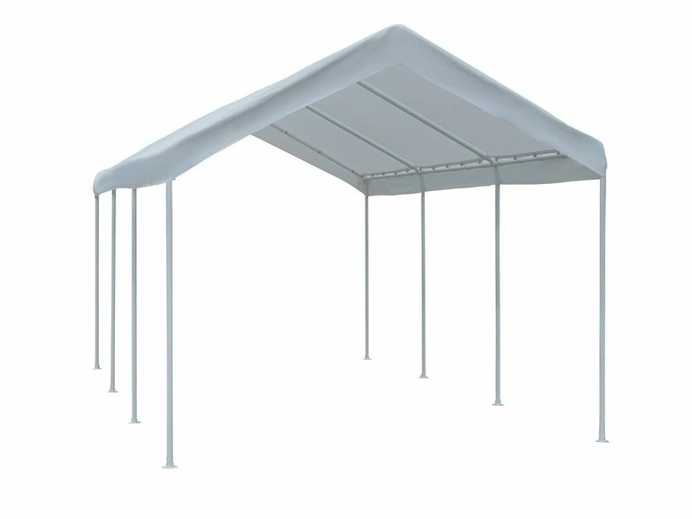 Car Canopy Steel Frame : Feet outdoor car canopy carport garage tent large