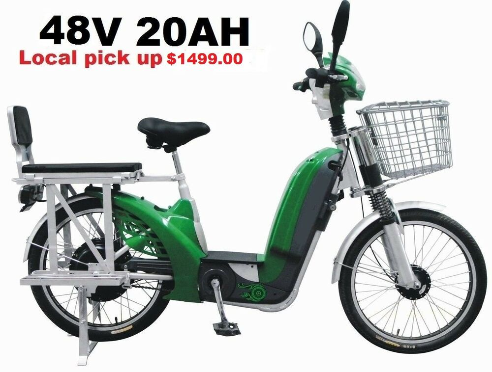 Cargo Electric Bike Suspension Shock 52v 20ah 2 Seater