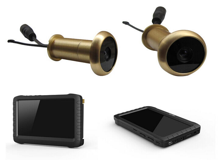 Dhl free small wireless door peephole camera system with