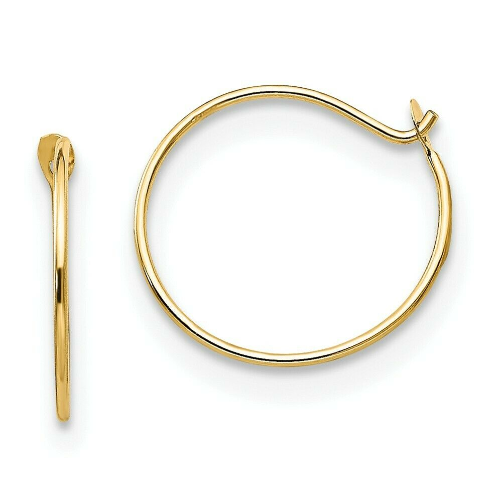 children s hoop earrings 14k yellow gold small endless hoop earrings polished madi 9860