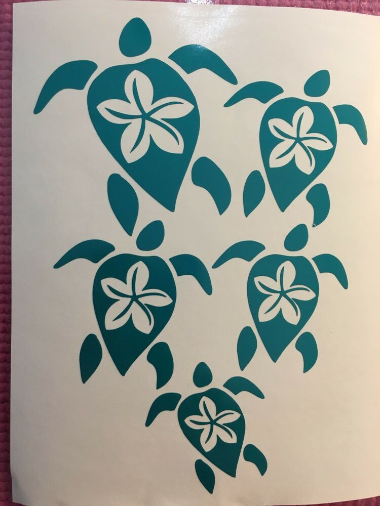 Turtle Family Vinyl Sticker Decal Hawaiian Honu Hawaii