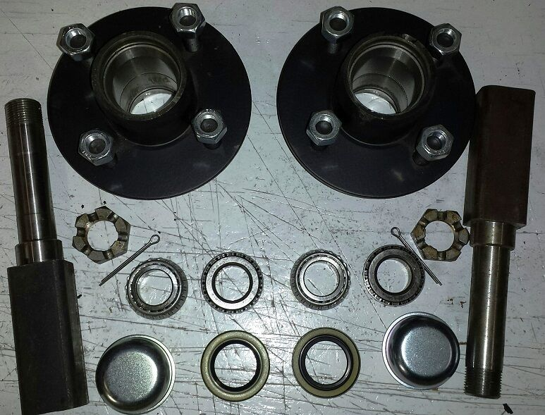 Trailer Hubs And Spindles : Dexter trailer hubs and quot square spindles lb