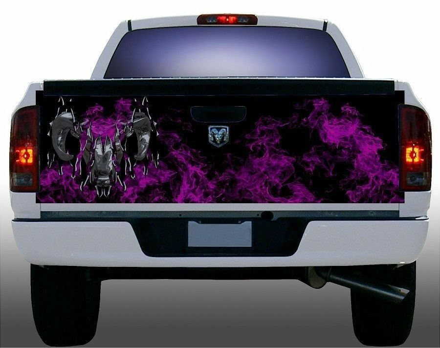Pink Flame Fire Dodge Ram Truck Tailgate Vinyl Graphic