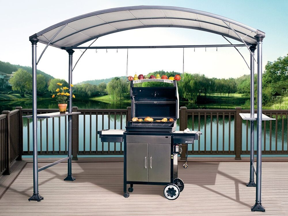 Abba Patio 9' x 5' Outdoor Backyard BBQ Grill Gazebo with ... on Outdoor Grill Patio id=74579