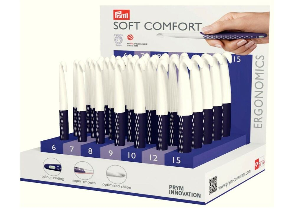 Comfort Zone Knitting Needles : Prym crochet hook soft comfort ergonomic design sizes mm