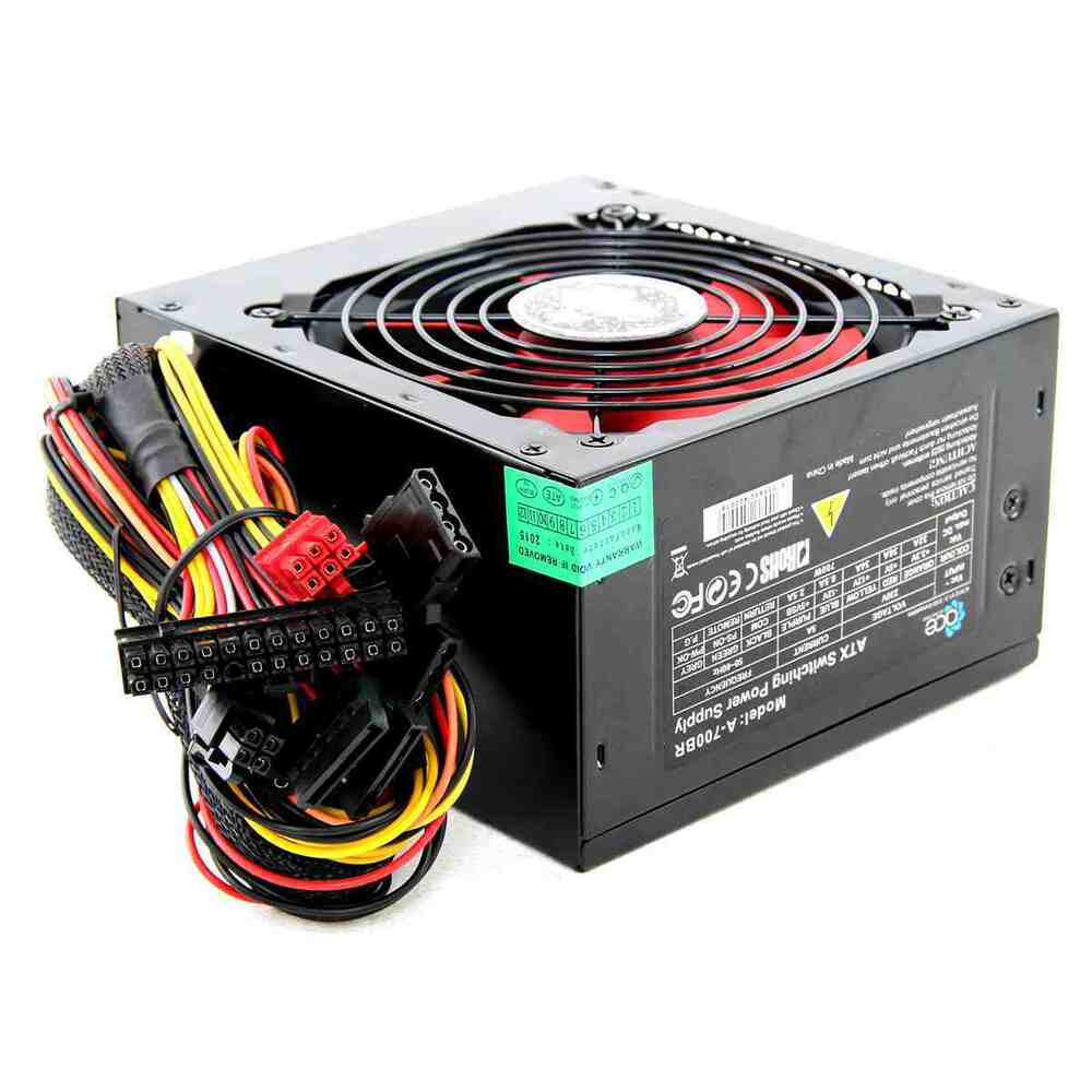 750w Black Computer Pc Psu Power Supply 6 Pin Pci E 120mm
