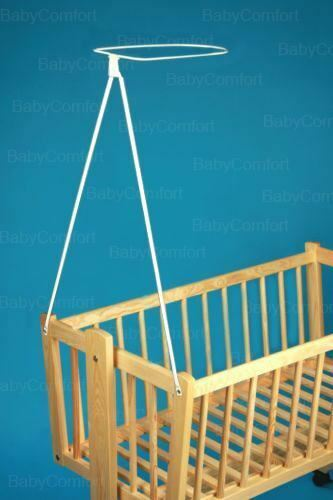 Crib canopy holder rod bar fits most cribs ebay for Canopy above crib