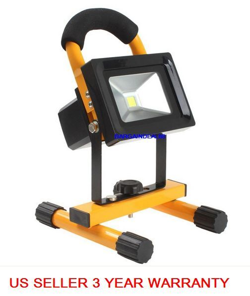 Portable Cordless Rechargeable Led Work Light Work Lamp W: L10 10W Portable Cordless Work Spot Light Rechargeable LED