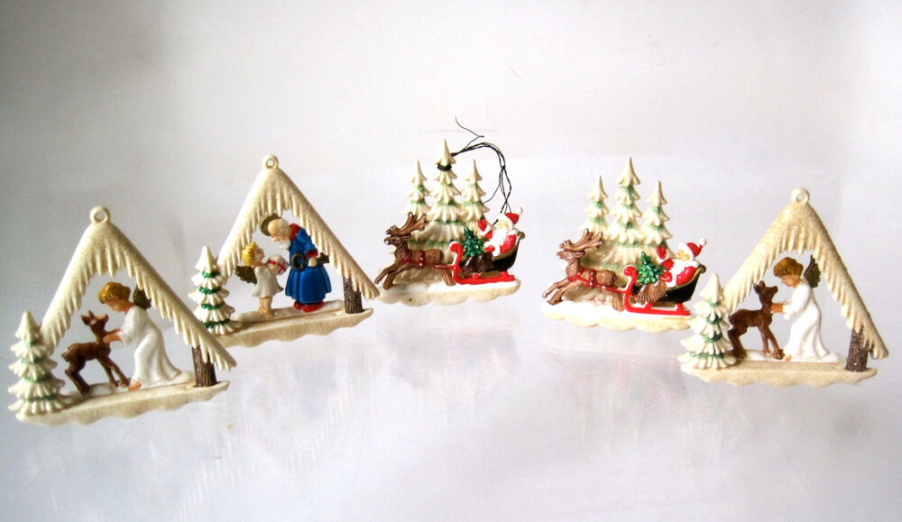 Decorations In Germany During Christmas : D diorama christmas tree ornaments west germany lot