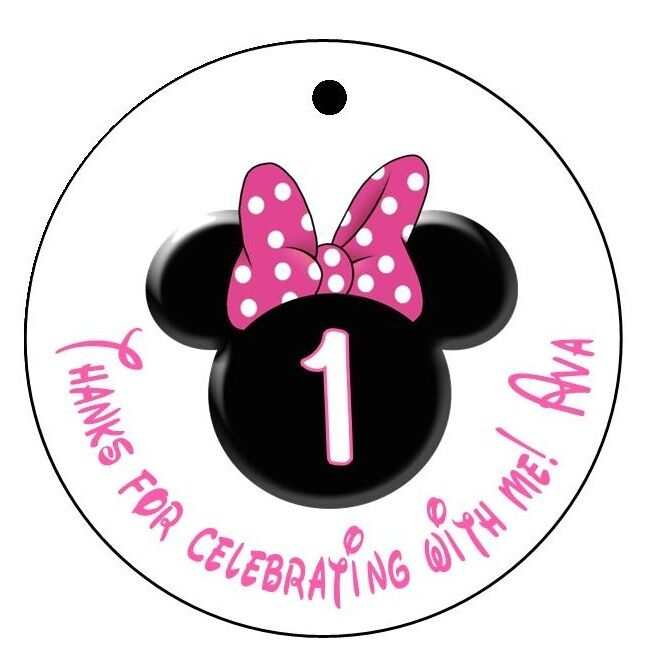Minnie Mouse Party Food Labels Free