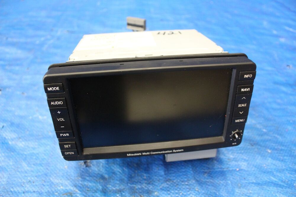 2009 Mitsubishi Lancer Ralliart Oem Navigation Display Deck Unit Cy4a Sst 421 Ebay