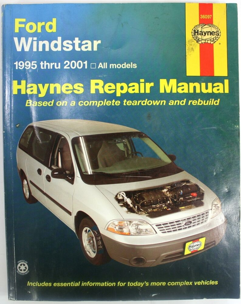 Ford Windstar Repair Manual Haynes #36097 1995 thru 2001 38345360978 | eBay
