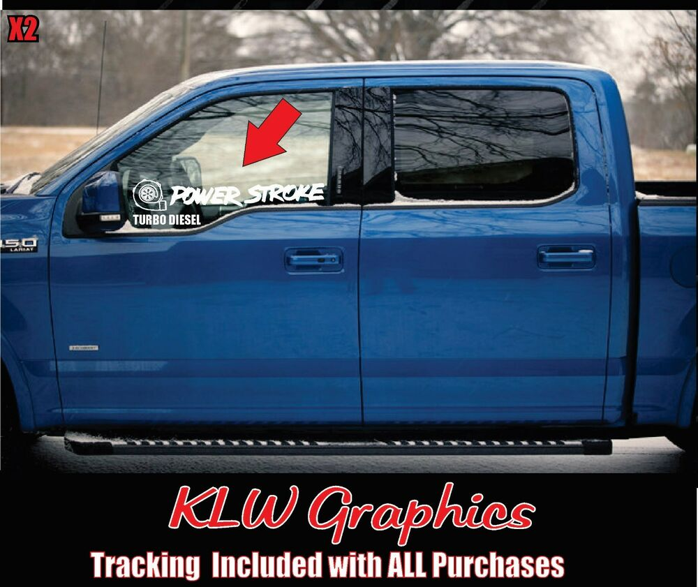 Truck Stickers For Back Window >> Powerstroke turbo * Vinyl Decal Sticker Diesel Stacks ...