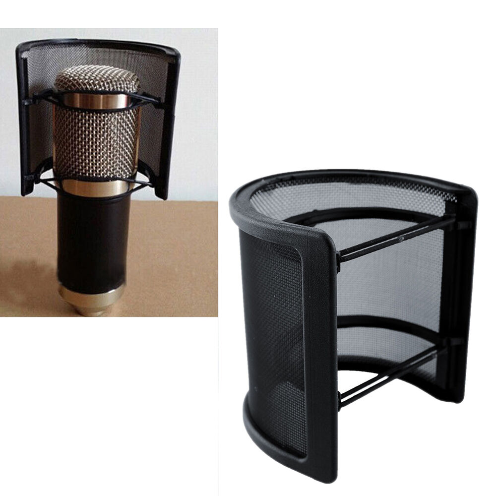 new dual layer recording studio microphone mic windscreen pop filter mask shield 733180802378 ebay. Black Bedroom Furniture Sets. Home Design Ideas