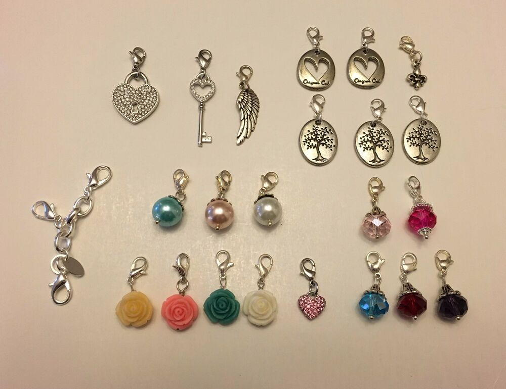 origami owl authentic dangles mostly retired ebay