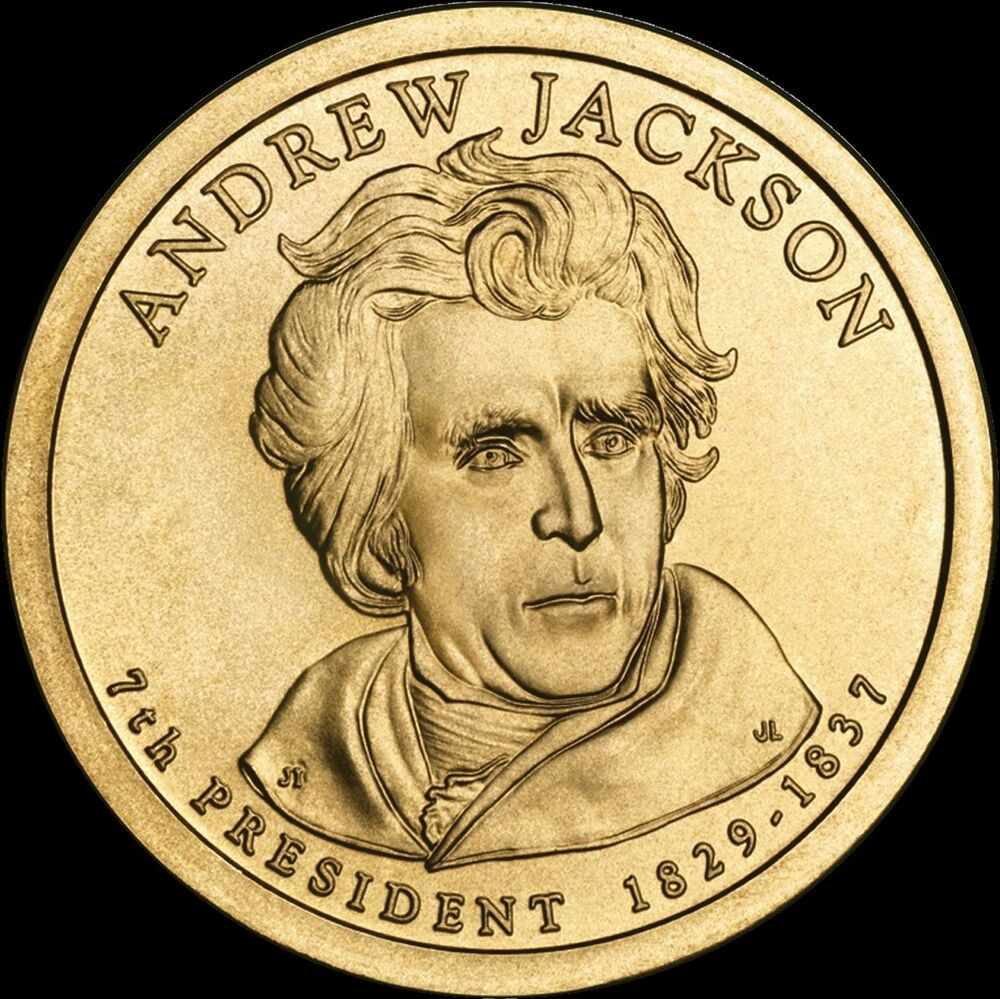 2008 p andrew jackson presidential dollar brilliant uncirculated us mint coin ebay. Black Bedroom Furniture Sets. Home Design Ideas