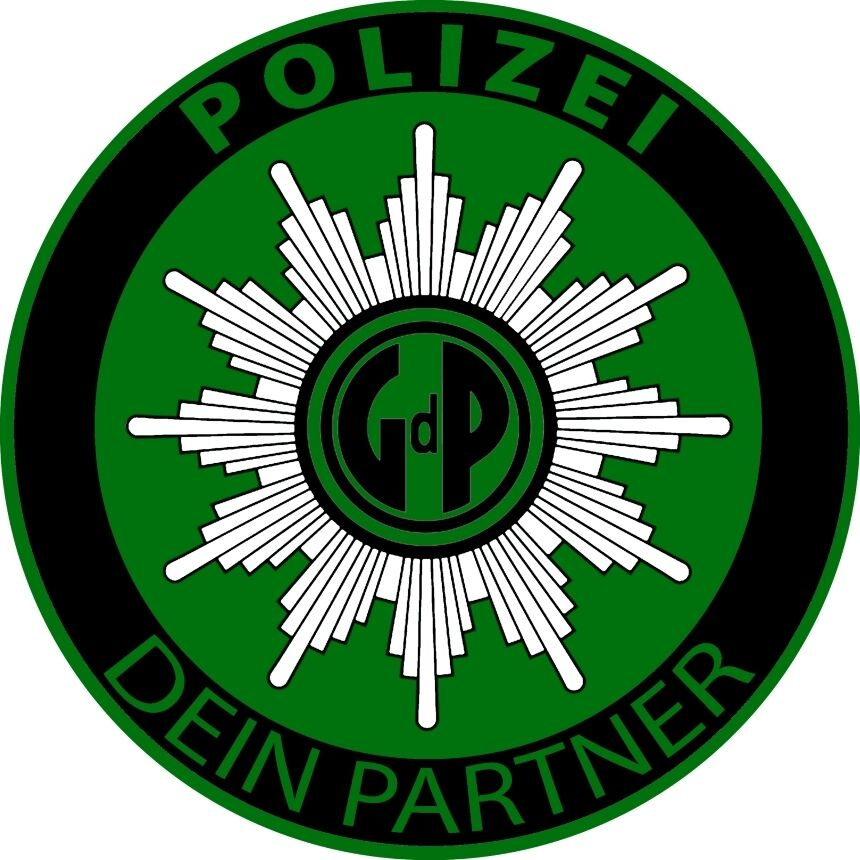 polizei aufkleber gdp gewerkschaft der polizei windschutzscheibe blau gr n auto ebay. Black Bedroom Furniture Sets. Home Design Ideas