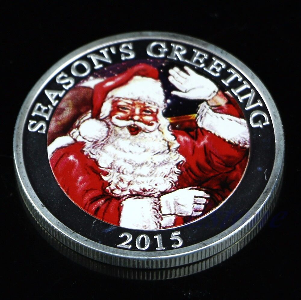 New silver plated merry christmas santa claus