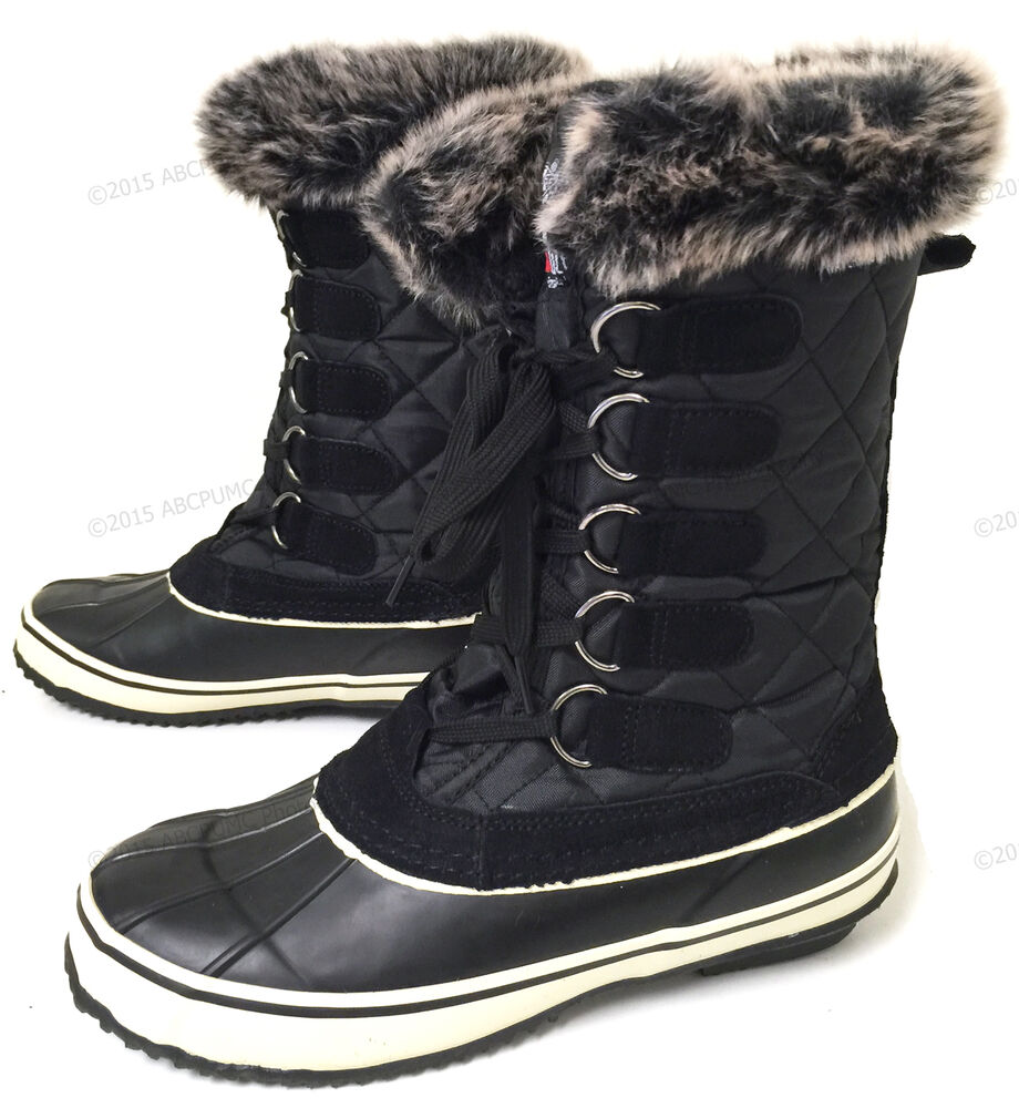 New Womens Winter Boots Fur Warm Insulated Waterproof Ski