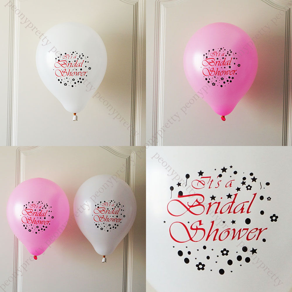 8x bridal shower quality latex balloon wedding party for Wedding shower balloons