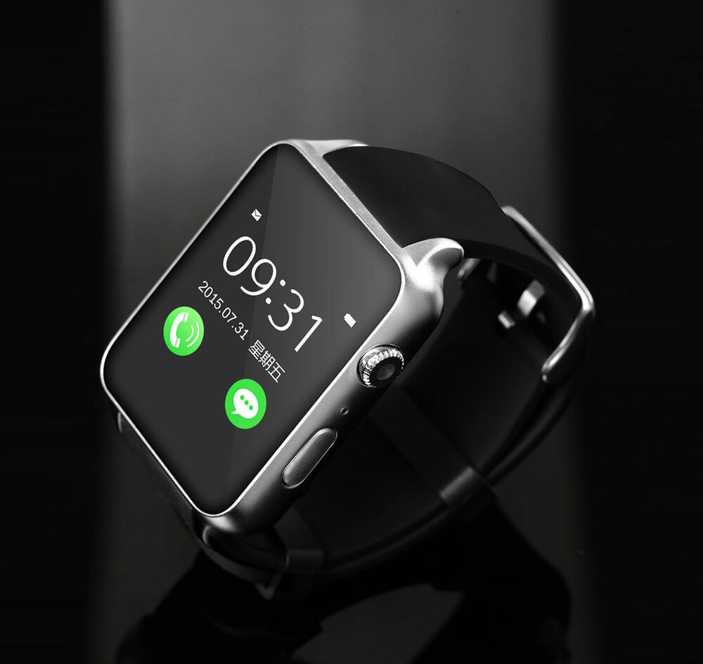 Camera Watch For Android Phones waterproof gt88 nfc bluetooth smart watch phone mate for iphone android silver ebay