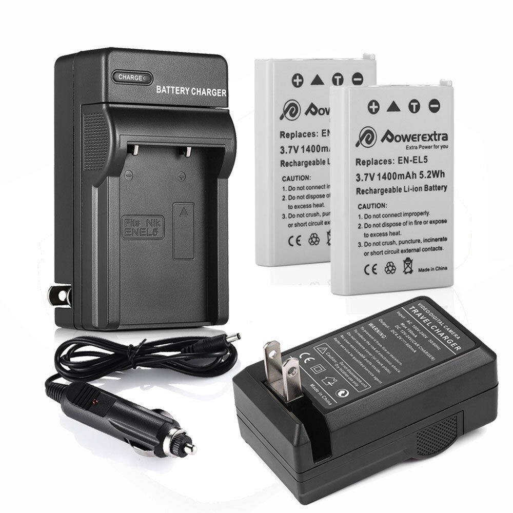 En El5 Battery Charger For Nikon Coolpix P500 P510 P520