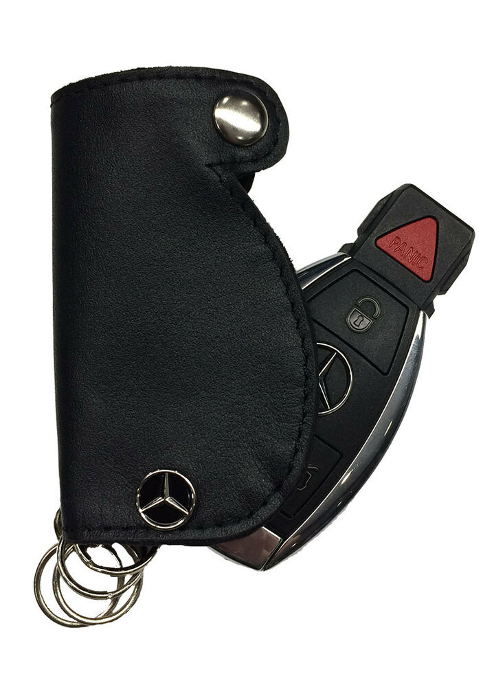 Mercedes benz leather key fob cover ebay for Mercedes benz key chain accessories