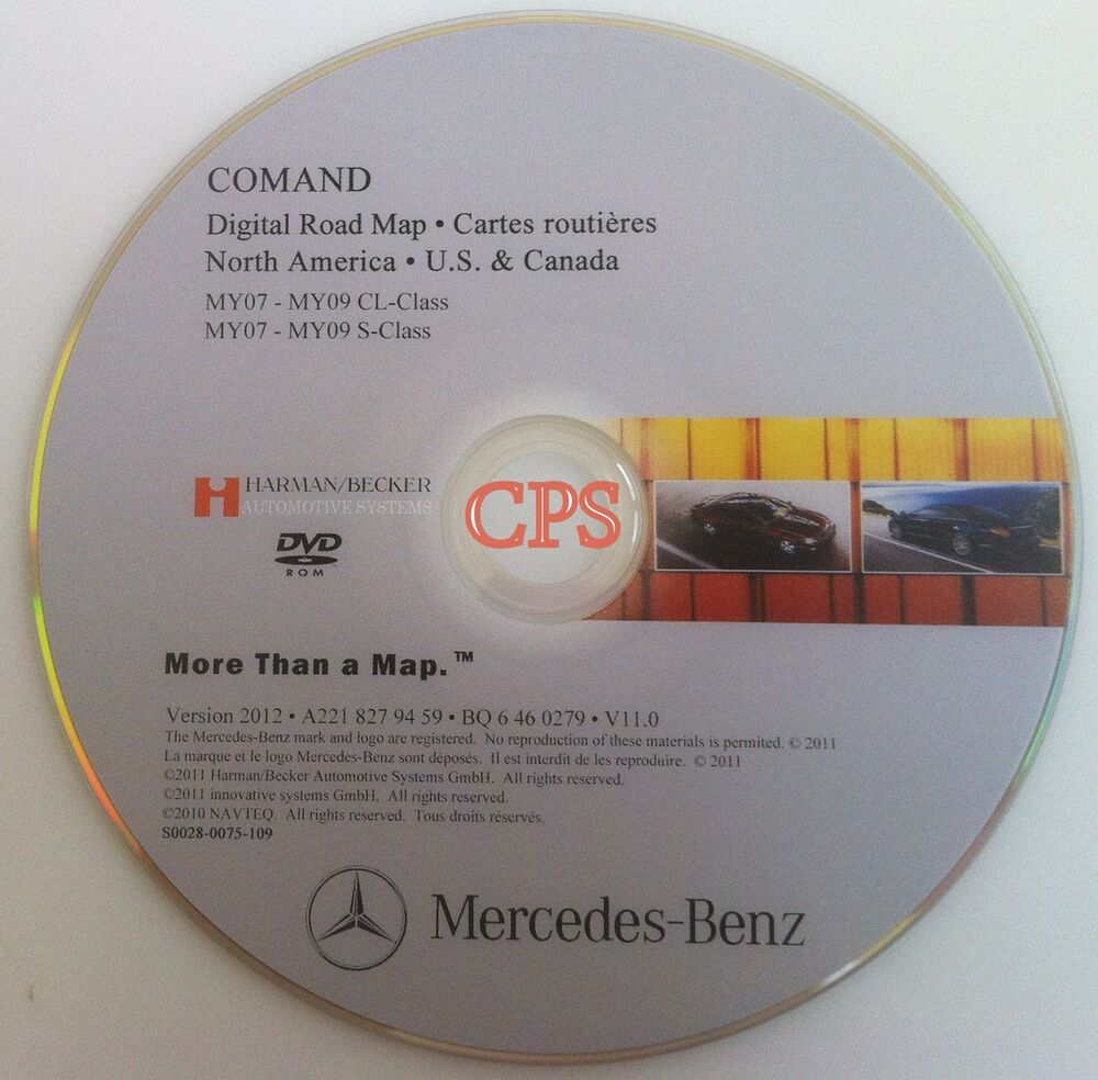 Mercedes benz navigation dvd comand map update 2012 for Mercedes benz navigation update