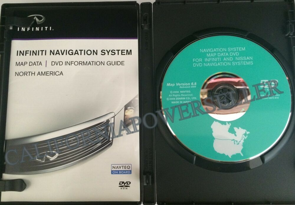 Navigation dvd nissan and infiniti v.5