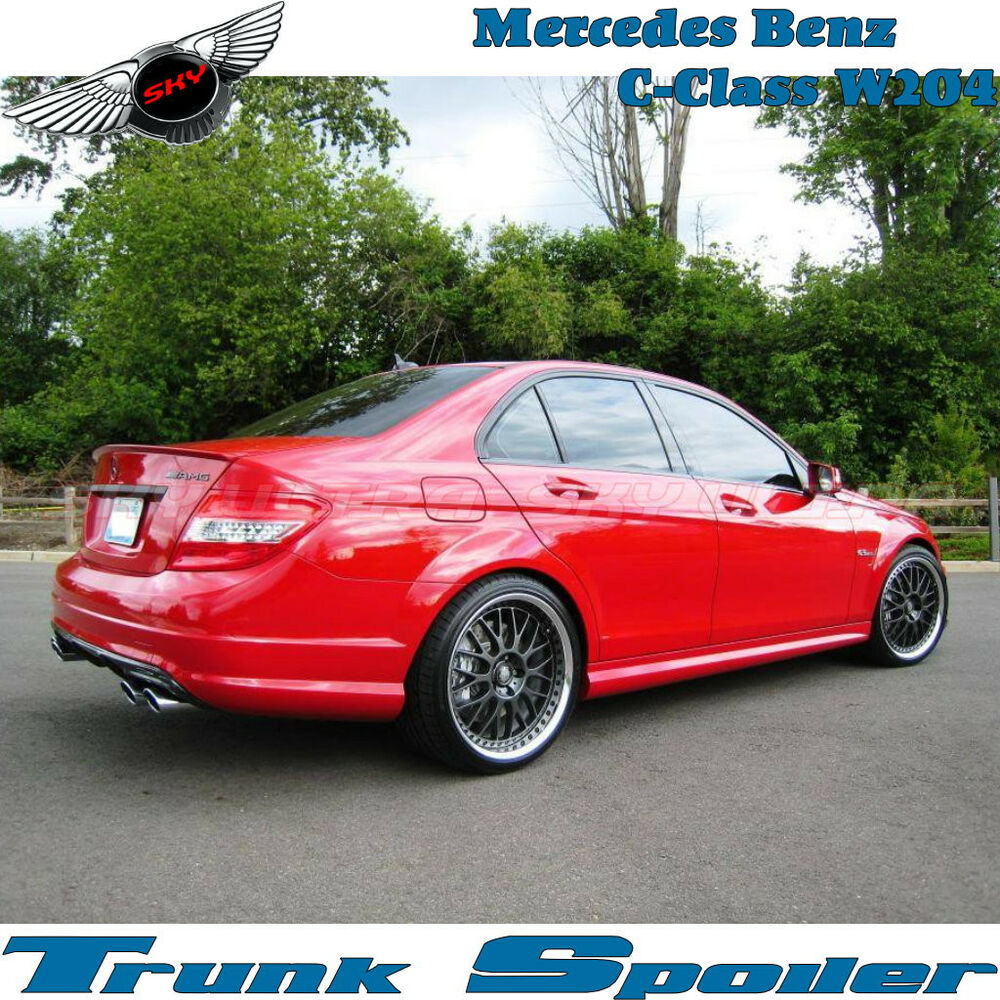 Painted a type rear trunk spoiler for mercedes benz w204 c for Types of mercedes benz c class