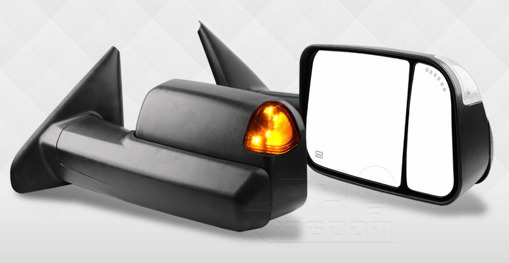 Power Heated Tow Side Mirror Pair Set For 02 08 Dodge Ram