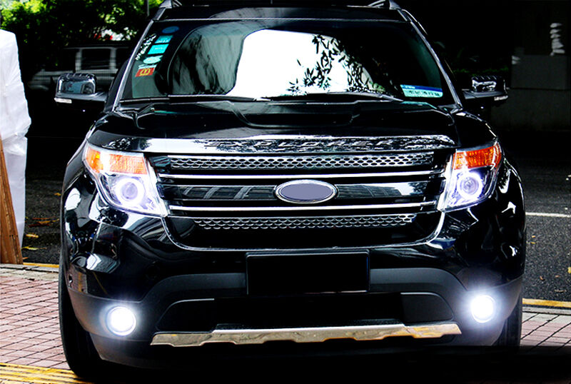 led front fog lamp fog light cover for ford explorer 2011