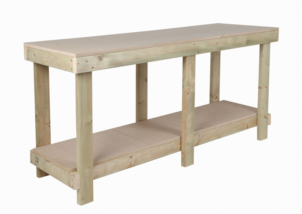 New 6 Ft Work Bench 18 Mm Mdf Top Wooden Workbench Heavy Duty Strong Sturdy Ebay
