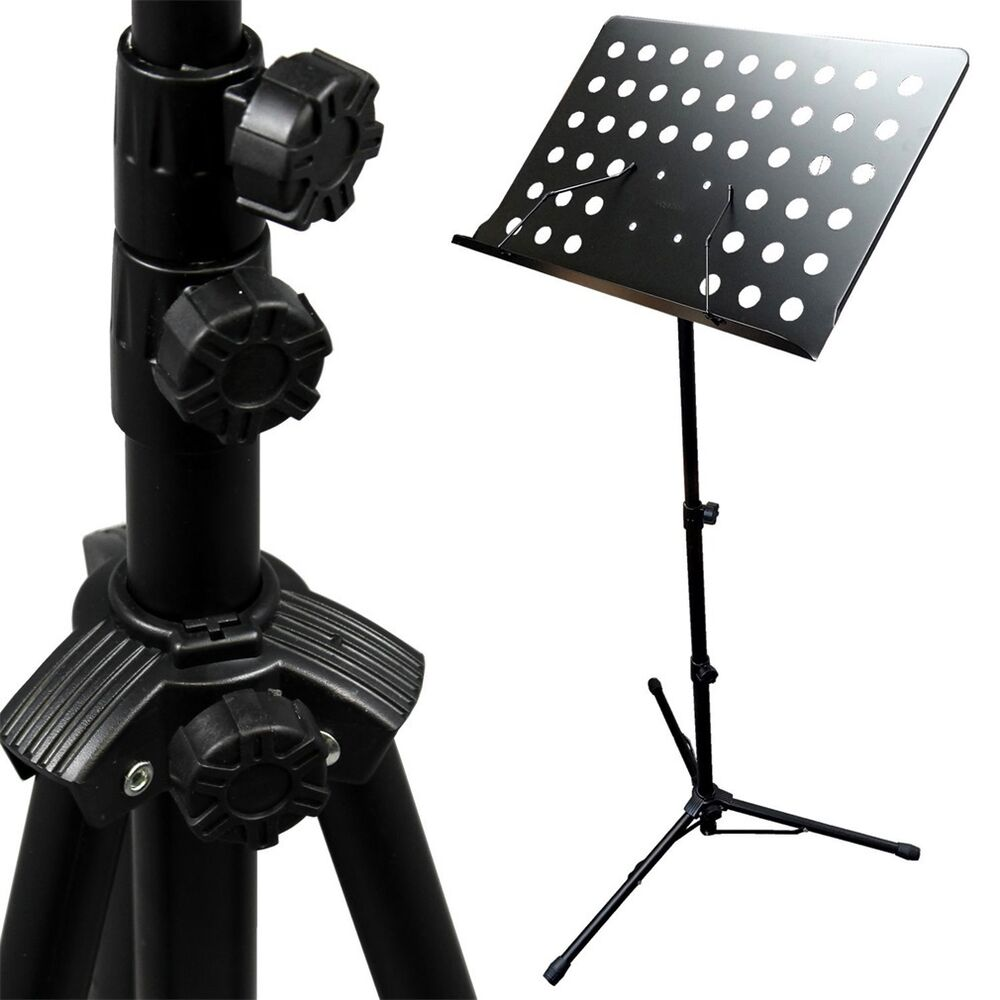 adjustable folding sheet music stand score holder mount tripod h2 743828967178 ebay. Black Bedroom Furniture Sets. Home Design Ideas