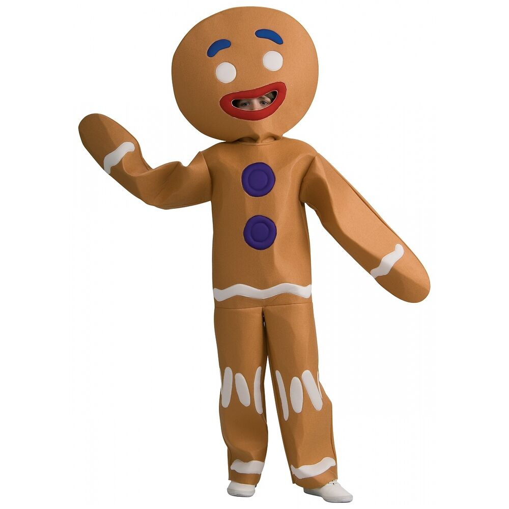 Gingerbread Man Costume Shrek Halloween Fancy Dress | eBay