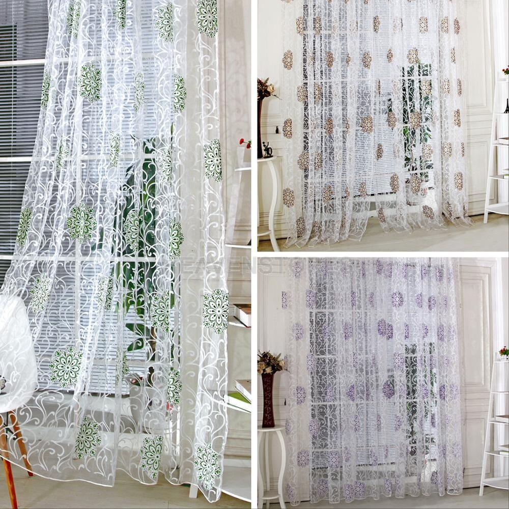 Curtain For Balcony: Modern Room Tulle Door Window Curtain Balcony Panel Sheer