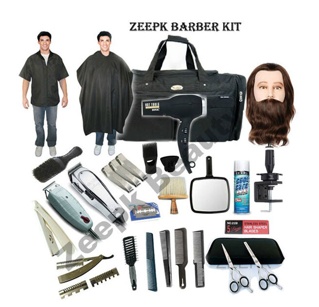 Barber Kit : Complete Cosmetology Student Barber Kit for Hair Styling, Barbering ...