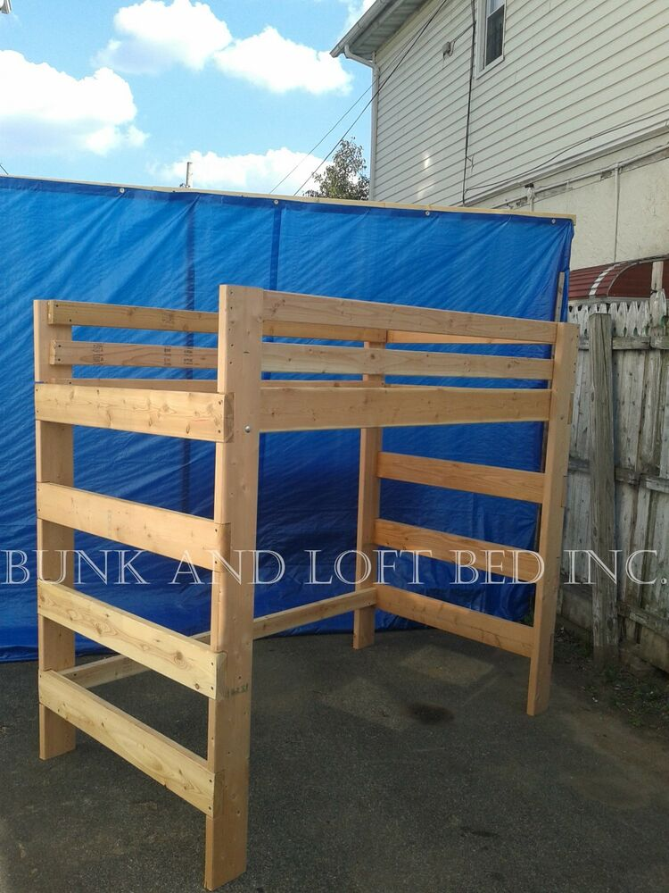 Supreme adult full size loft bed with 1000 weight capacity - Adult loft beds with stairs ...