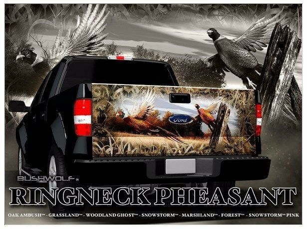 Pheasant Hunting Camouflage Truck Tailgate Vinyl Graphic