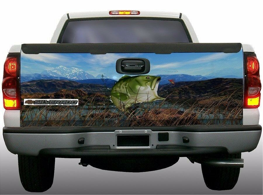 Grass Camouflage Bass Fish Fishing Truck Tailgate Vinyl