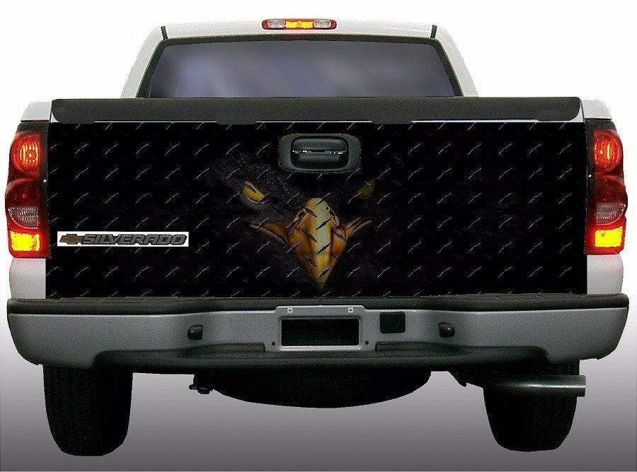 American Flag Black Eagle Truck Tailgate Vinyl Graphic