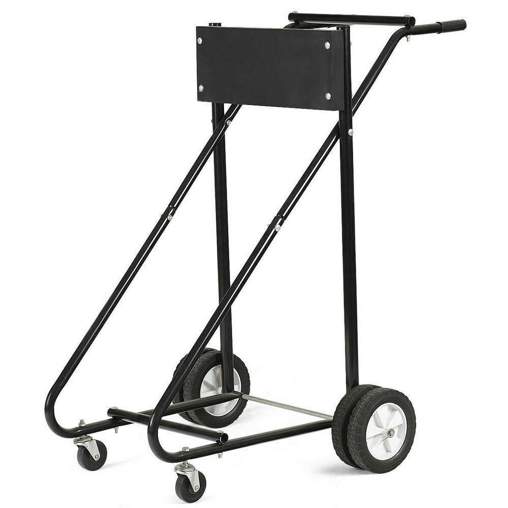 315 Lbs Outboard Boat Motor Stand Carrier Cart Dolly