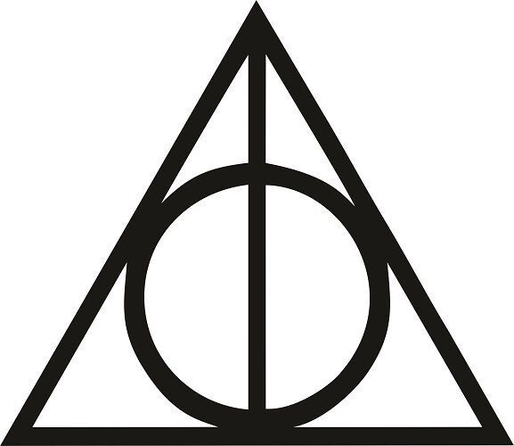Harry Potter Deathly Hallows Decal / Sticker - Choose Size ...