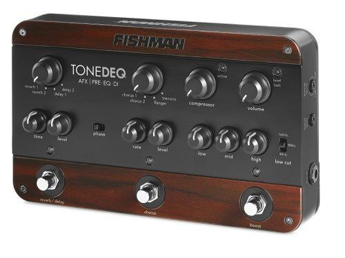 fishman tonedeq afx preamp eq and di performance acoustic guitar effects pedal ebay. Black Bedroom Furniture Sets. Home Design Ideas