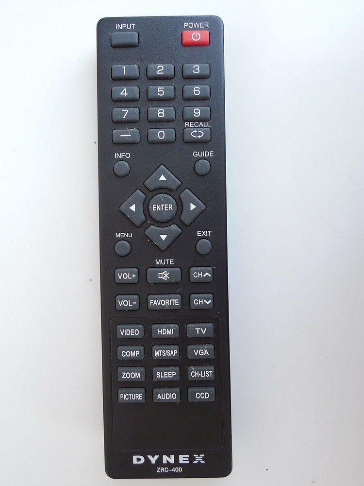75 Chrome Shop >> DYNEX ZRC-400 TV REMOTE CONTROL ORIGINAL | eBay