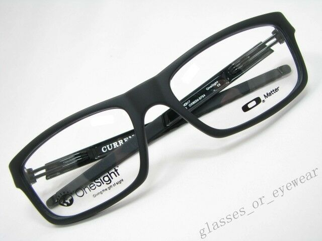 959dfdaac3 Details about Eyeglass Frames-Oakley CURRENCY OX8026-0754 OneSight Satin  Black Glasses Frame