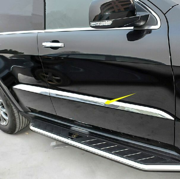 4p Chrome Door Body Side Molding Cover Trim For Jeep Grand Cherokee 2014 2016 Ebay