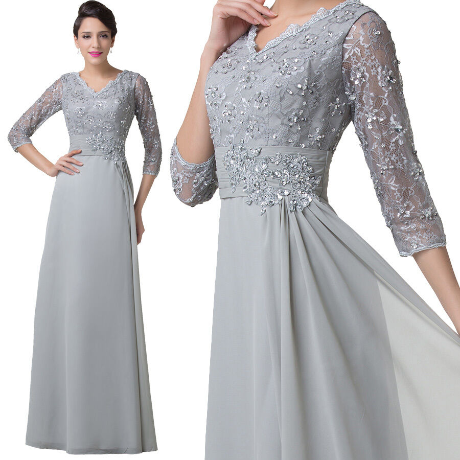 Mother of the bride lace dress long formal pageant evening for Sell your wedding dress online for free