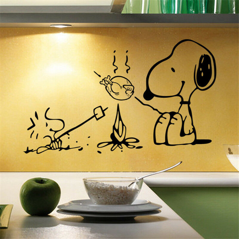 New Snoopy Dog Kitchen Removable Wall Stickers Decals